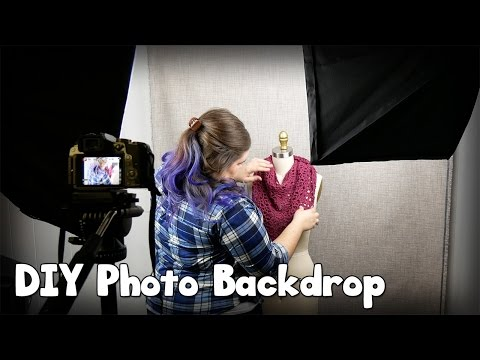Make a Cheap DIY Photo Backdrop Setup