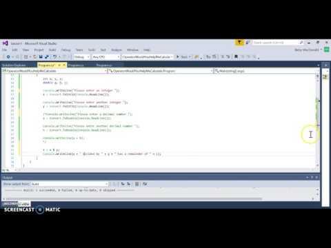 C# Operators with Modulus