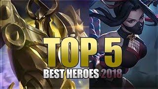 Mobile Legends: Top 5 Best Heroes - Before Hanabi and Uranus Release