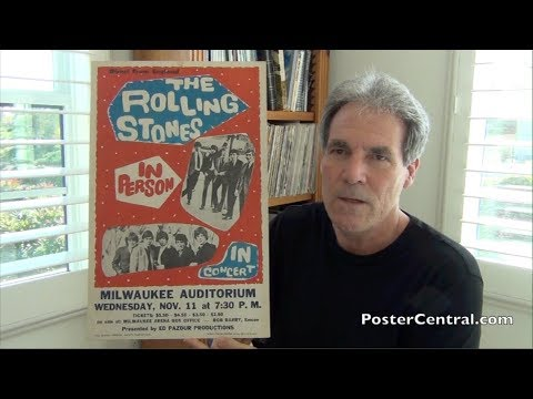 Rolling Stones Concert Poster 1964 Milwaukee – Only 1,200 Attended