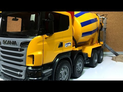 UNBOXING AND PLAYING: Bruder BIG Cement Mixer Truck JUST LIKE THE REAL THING Toy Video for Kids
