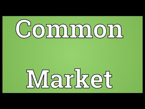Common Market Meaning