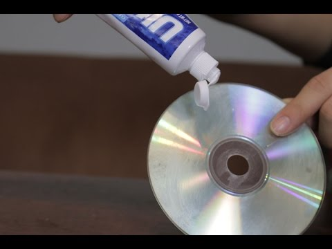 How to clean Any CD's with Toothpaste