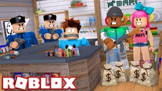 CRIMINAL COUPLE ROBS STORE IN ROBLOX