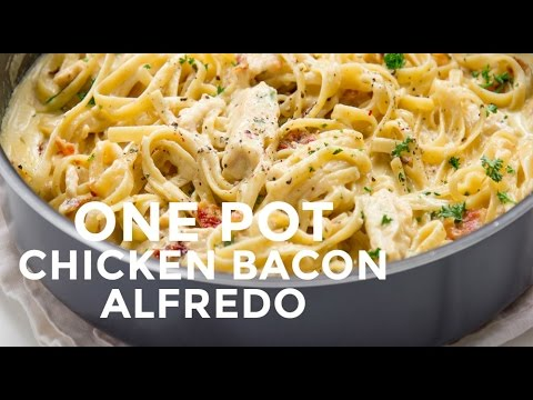 One Pot Chicken Bacon Alfredo