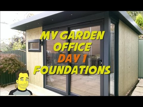 My Garden office / Garden room  / Summer house Build Installation - Laying foundations Day 1