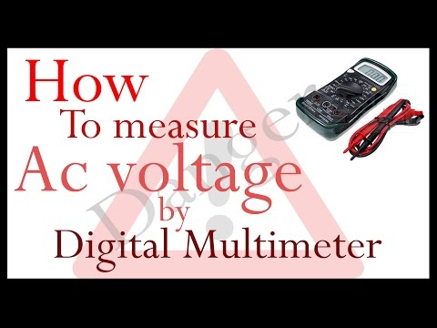 How to safely measure AC voltage by Digital Multimeter
