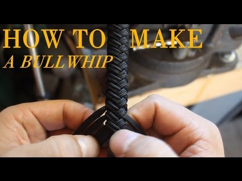 How to Make a Paracord Bullwhip - a full length tutorial by Nick Schrader
