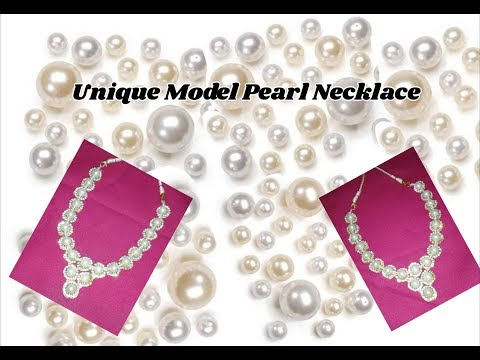 Pearl necklace making with different style | jewellery tutorials