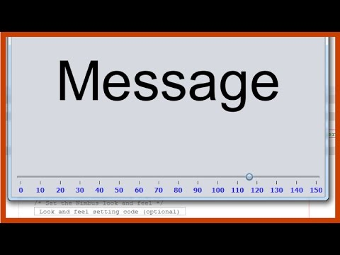 Java GUI Tutorial - How To Change JLabel Font Size Using JSlider In Java [ With Source Code ]