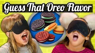GUESS THAT OREO CHALLENGE! (Kids Vs. Food)