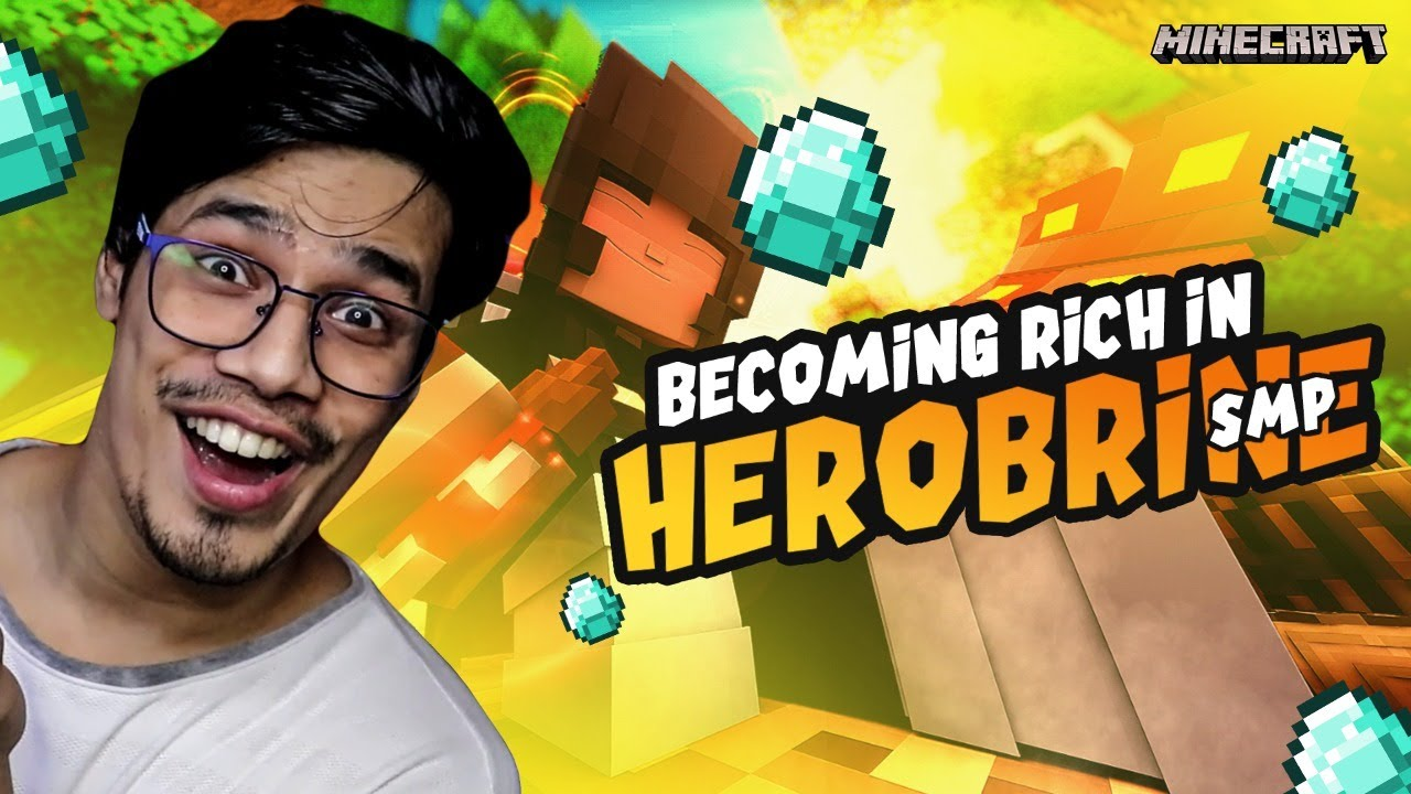 Crafting God Armour In  Herobrine SMP | Day #2