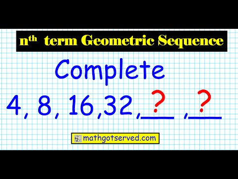 how to find the nth term of a geometric sequence algebra 2 honors common core ratio u9l4