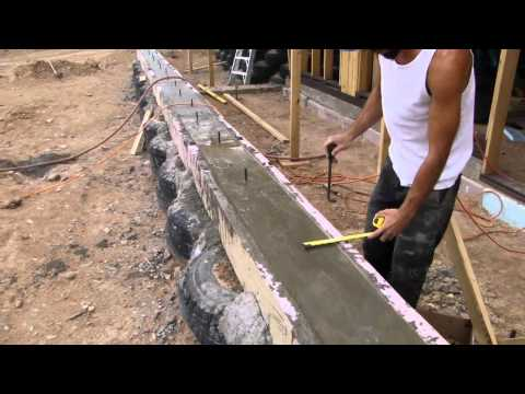 How to Build an Earthship's Front Face - Part I