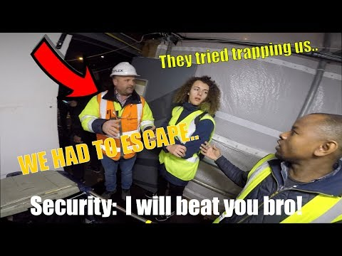 SECURITY TRIED TRAPPING US INSIDE *ESCAPE*