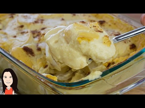Vegan Alfredo Potato Bake - NO OIL RECIPE!