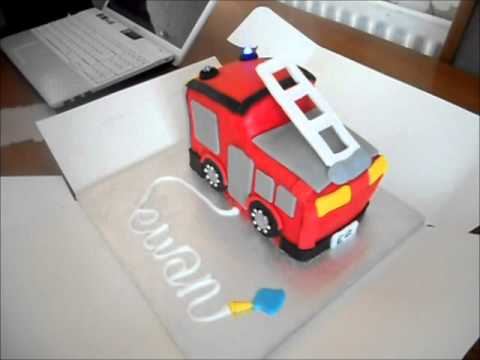 fire engine cake by 22 cupcakes later ...