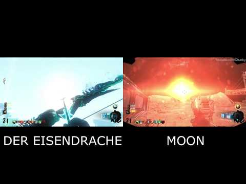 Blowing Up The Moon Vs Blowing Up The Earth Easter Egg Cutscene (Comparison)
