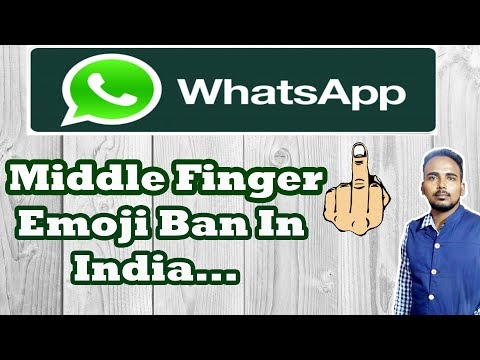 Legal Notice To WhatsApp To Remove 'Middle Finger' Emoji | Whats App |