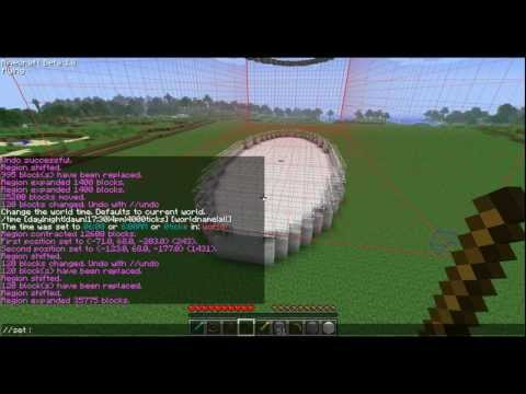 Minecraft How To Make Oval Buildings WorldEdit Tutorial