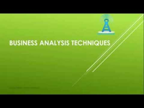 Business Analyst training videos - Techniques by ELearningLine @848-200-0448