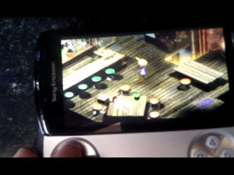 Final Fantasy 7 running on my xperia play