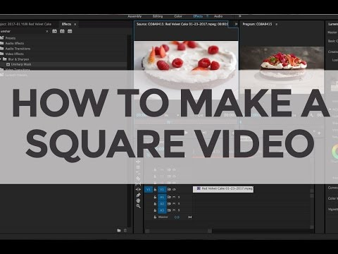 How To Create a Square Video in Adobe Premiere Pro