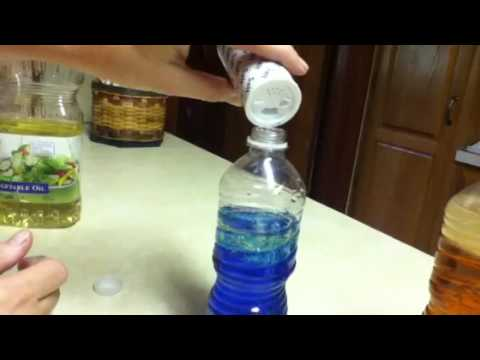 How to make lava lamps out of a water bottle