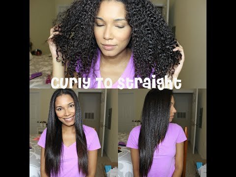 How To Straighten Curly Hair | No Blow Drying