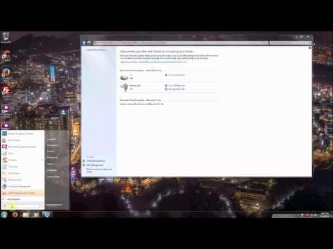 Enabling Bitlocker Drive Encryption