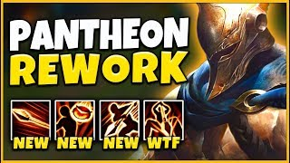NEW PANTHEON REWORK REVEALED! ALL ABILITIES, GAMEPLAY (REWORKED PANTHEON) - League of Legends