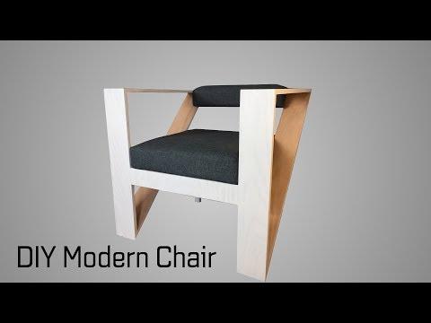 Building a DIY Modern Chair || The Oak Triangle Chair