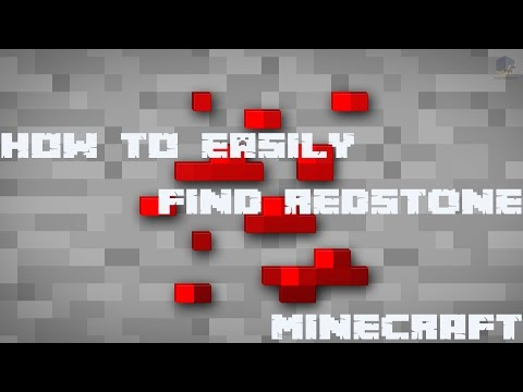 Minecraft - How to find quickly and easily Redstone Ore