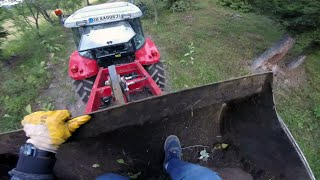 Tidying and Digging with the Massey Ferguson 1220 Tractor