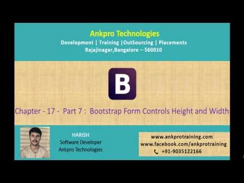 Bootstrap Chapter 17 - Bootstrap Form Controls Height and Width Part 7