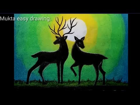 How to draw Green Light with Oil Pastel.Step by step(easy draw)