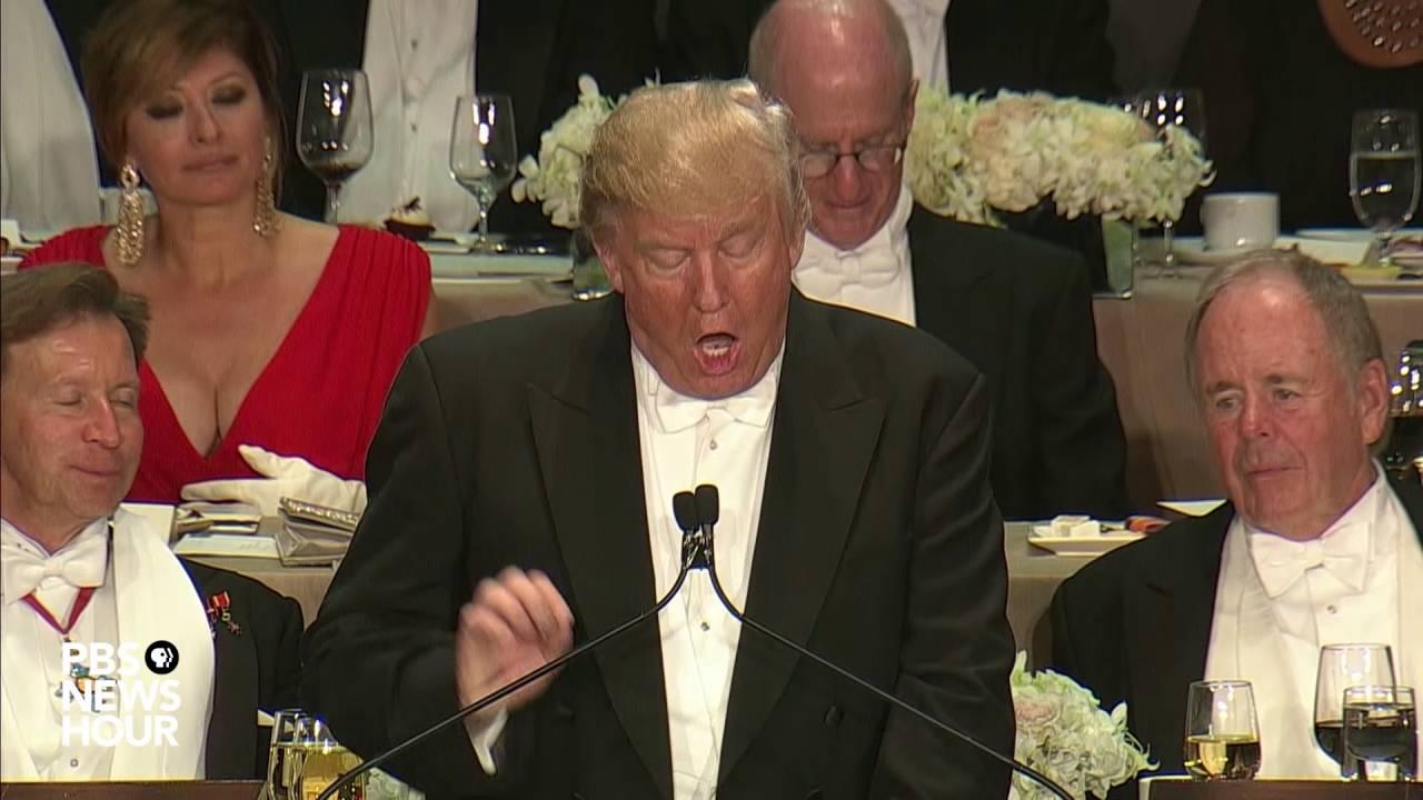 Watch full Al Smith dinner speeches from Trump, Clinton