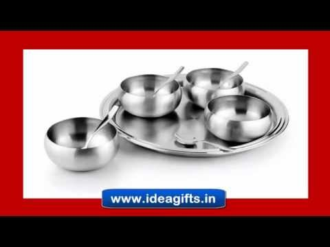 DESIGNER STEEL KITCHENWARE ACCESSORIES - Stylish Utensils and Cookware with Serveware by Idea Gifts.