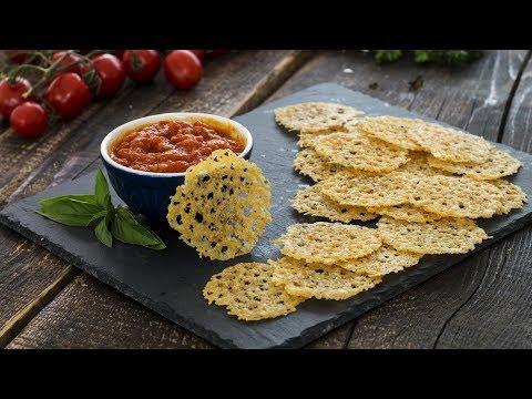 Parmesan Crisps with Marinara Sauce Recipe