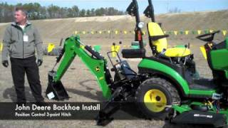 John Deere Front Loader and Backhoe Attachment Demonstration
