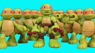 Teenage Mutant Ninja Turtles Half Shell Heroes TMNT Mikey Replica Robot Battle Shredder Clay Face