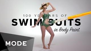100 Years of Swimwear in Body Paint ★ Mode.com