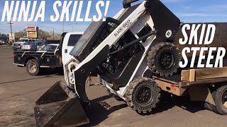 Awesome Bobcat Skid-Steer skills on the job site (video #1)