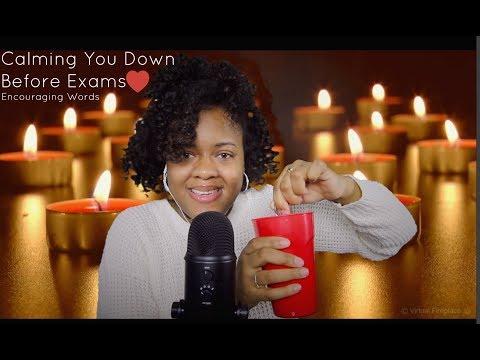 ASMR Calming You Down Before Exams! (Hot Cocoa/Encouraging Words)