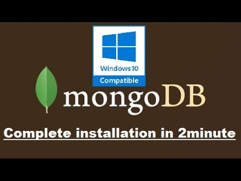 Install MongoDB — Windows 10 in 2 minutes