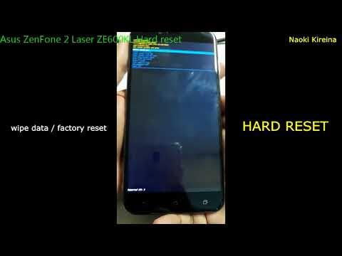 Asus ZenFone 2 Laser ZE600KL Hard reset