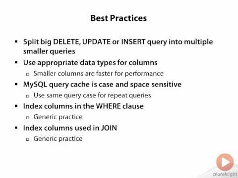 Best practices for MySQL query optimization