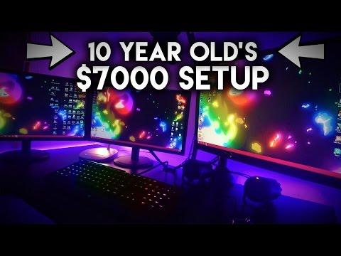 World's Best 10 YEAR OLD KID'S $9000 RGB GAMING/RECORDING SETUP! (OMG)
