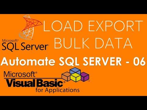 VBA and SQL Server - Load or Add Bulk data to SQL Database using VBA. Part-6
