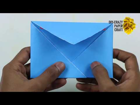 How to Make Origami Paper Envelope Without Glue or Tape |  DIY  Easy Origami Envelope Video Tutorial